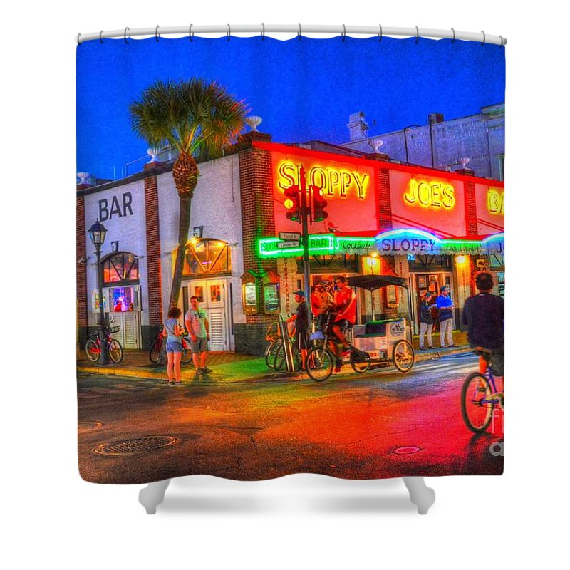 Sloppy Joes Shower Curtain featuring the photograph Iconic Sloppy Joes by Debbi Granruth