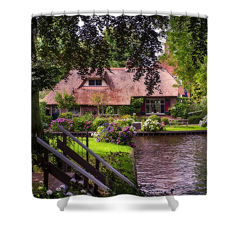 Netherlands Shower Curtain featuring the photograph Idyllic Village 14. Venice Of The North by Jenny Rainbow