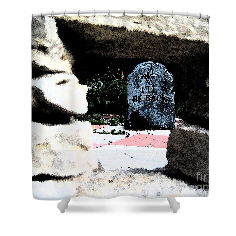Irst Star Art Shower Curtain featuring the photograph I'll Be Back By Jrr by First Star Art