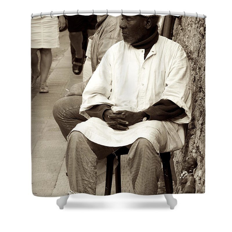 Taormina Shower Curtain featuring the photograph I'm On Sale by Donato Iannuzzi