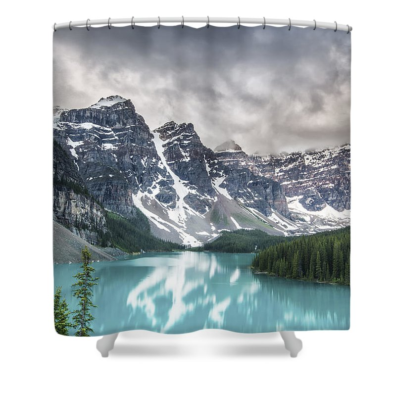 Horizontal Shower Curtain featuring the photograph Imaginary Waters by Jon Glaser