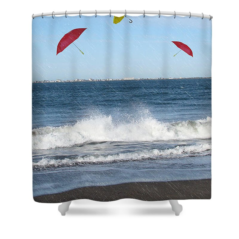 Umbrella Photograph Shower Curtain featuring the photograph Imagination Gone Wild by Beverly Guilliams