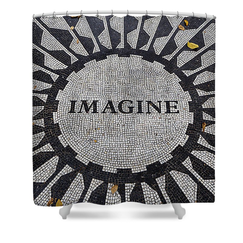 Just Imagine Shower Curtain featuring the photograph Imagine A World Of Peace by Garry Gay