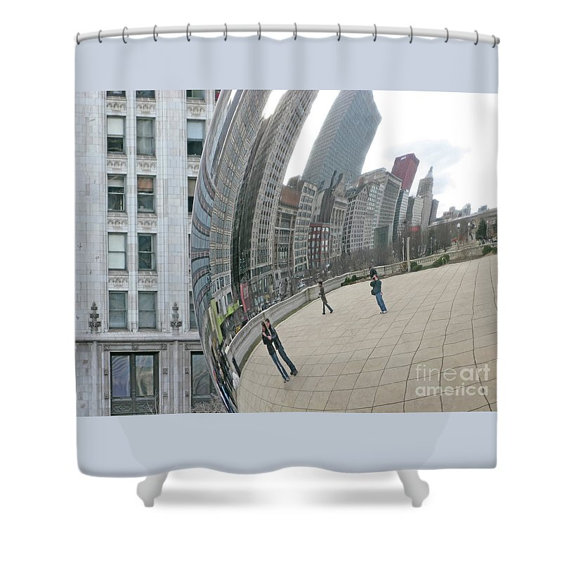 Chicago Shower Curtain featuring the photograph Imaging Chicago by Ann Horn