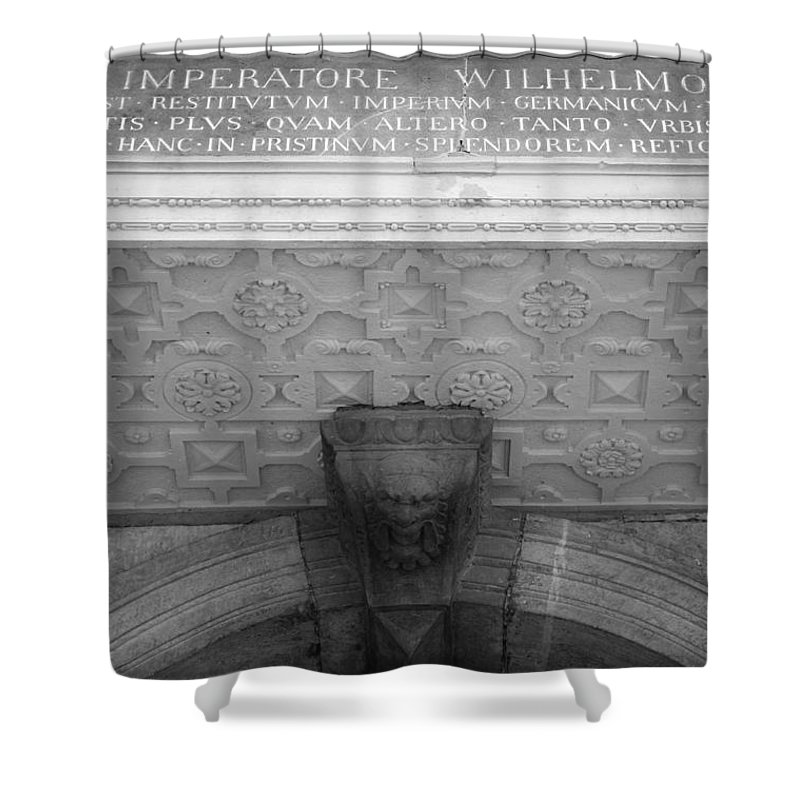 2014 Shower Curtain featuring the photograph Imperatore Wilhelmo Cologne Germany by Teresa Mucha