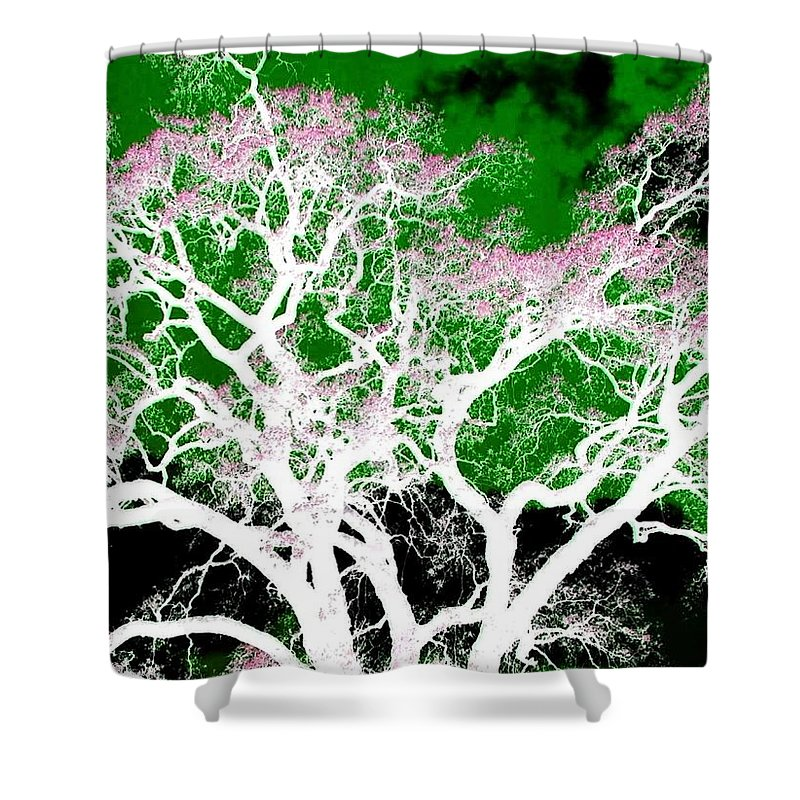 Impressions Shower Curtain featuring the digital art Impressions 1 by Will Borden