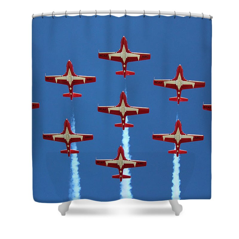 Snowbirds Shower Curtain featuring the photograph In Formation by Randy Hall