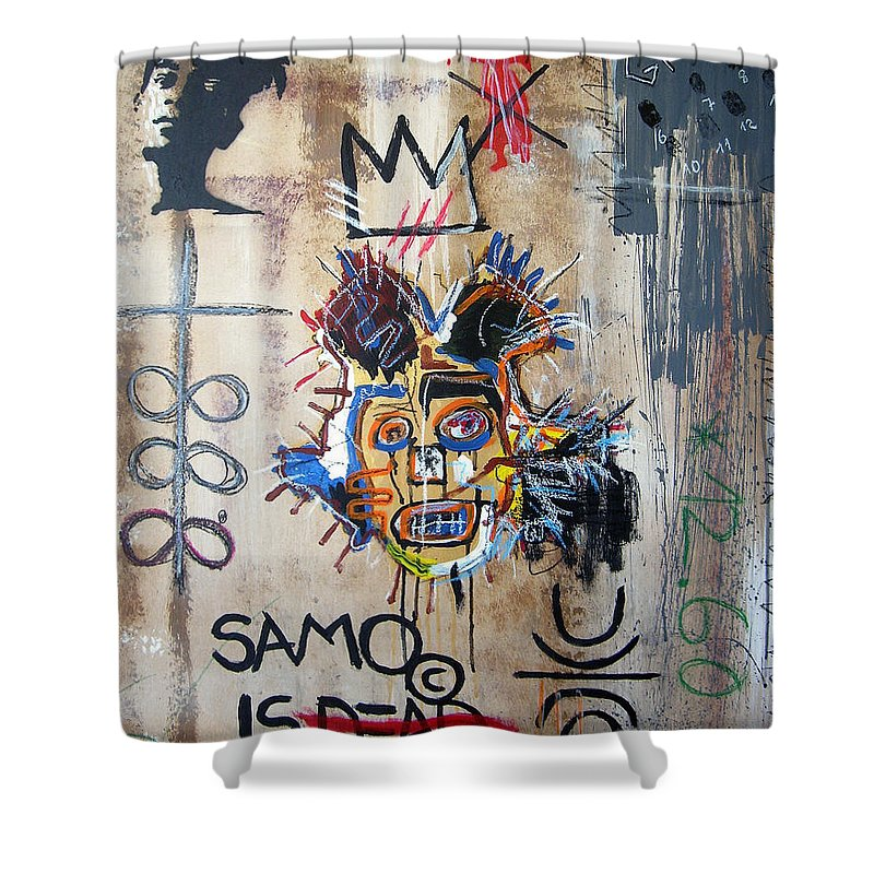 Memory Shower Curtain Featuring The Painting In Basquiat By Bela Manson
