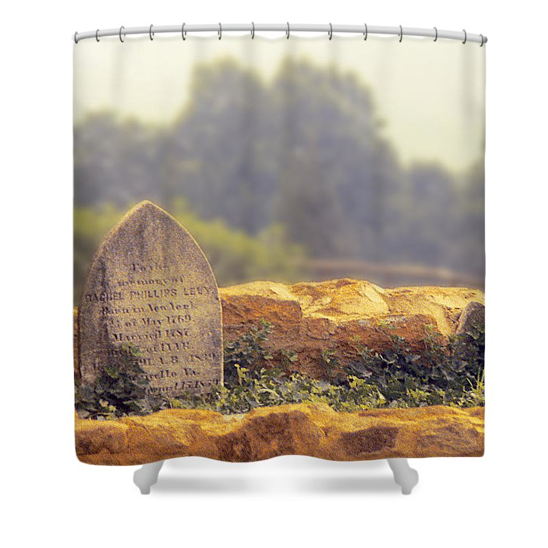 Monticello Shower Curtain featuring the photograph In Memory Of Rachel Phillips Levy by Stuart Litoff