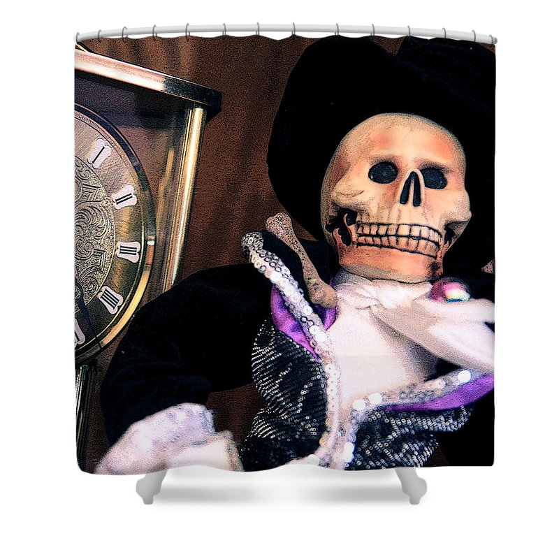 Day Of The Dead Shower Curtain featuring the photograph In The Fullness Of Time by Joe Kozlowski