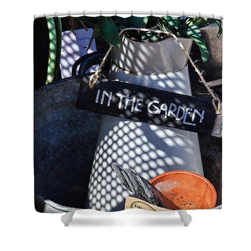 Shop Shower Curtain featuring the photograph In The Garden by Susie Peek
