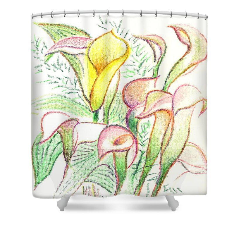 In The Golden Afternoon Shower Curtain featuring the painting In The Golden Afternoon by Kip DeVore