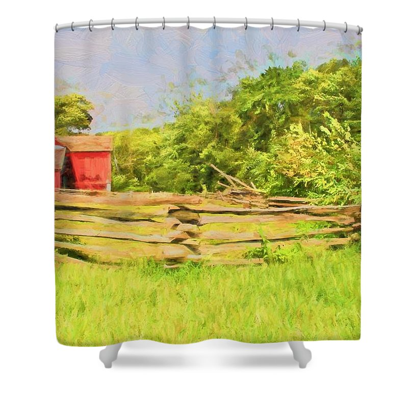 Red Shower Curtain featuring the photograph In The Red by Alice Gipson