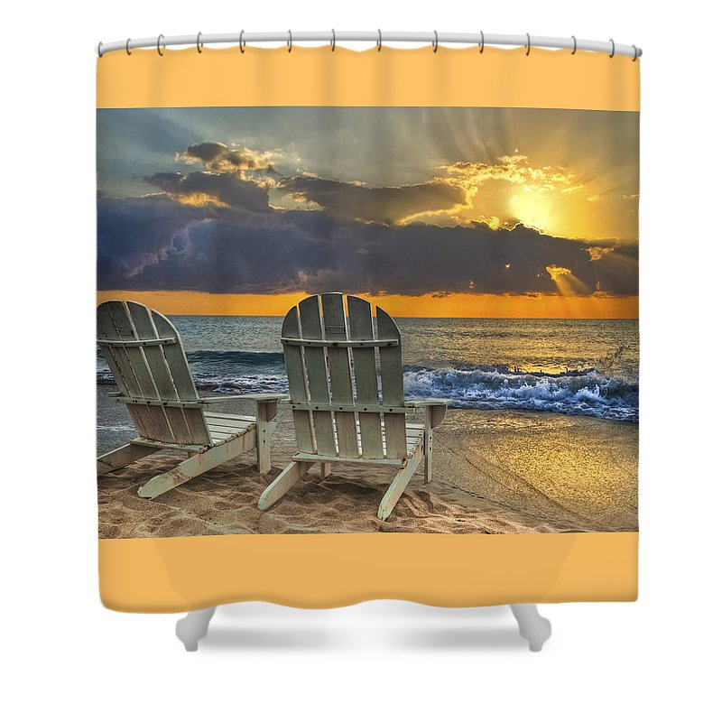 Zen Shower Curtain featuring the photograph In The Spotlight by Debra and Dave Vanderlaan