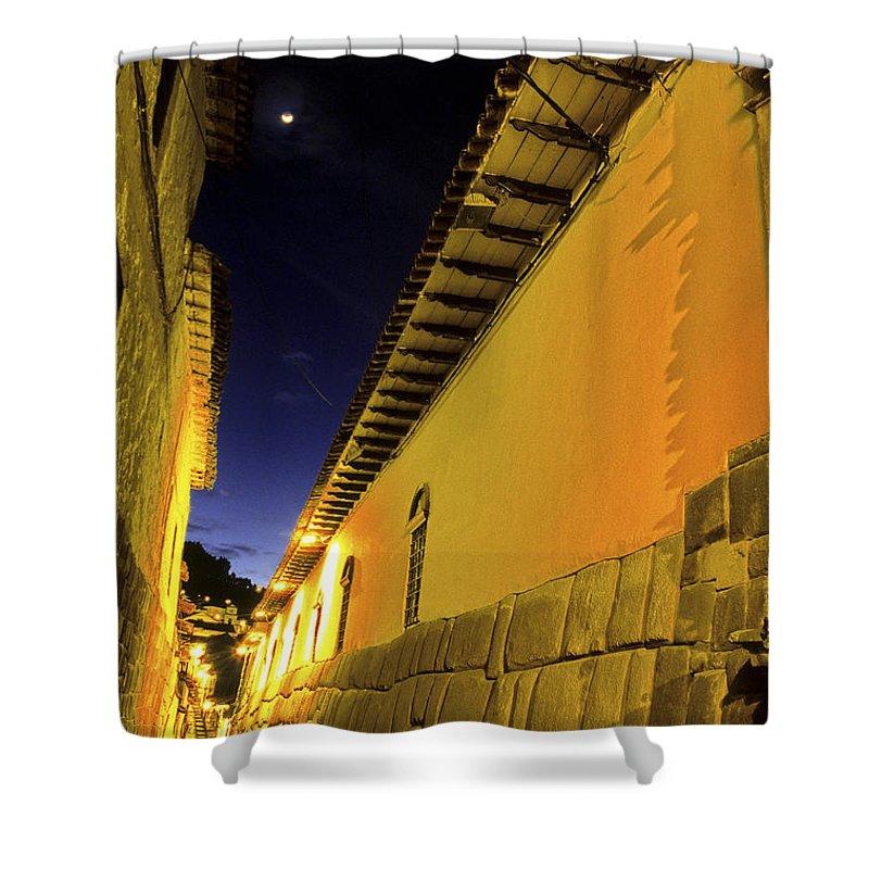 Alley Shower Curtain featuring the photograph Incan Street Cusco Peru by Ryan Fox