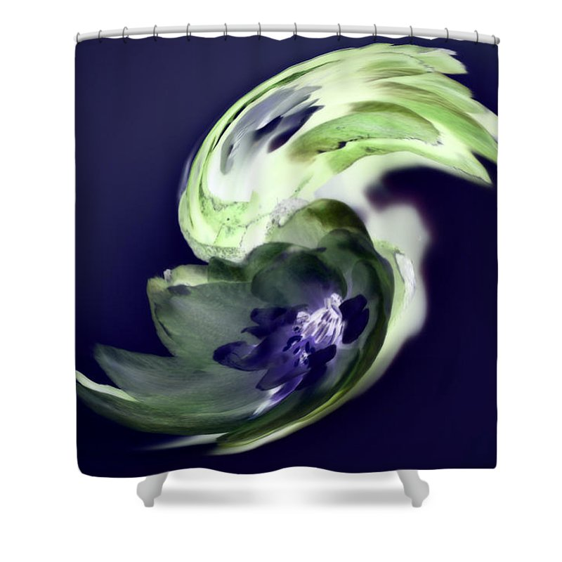 Abstract Phototgraphy Shower Curtain featuring the photograph Incana abstract 1 by Paulina Roybal