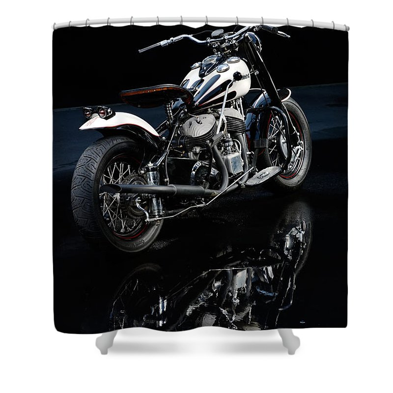 Indian Shower Curtain featuring the photograph Indian Chief Blackhawk Bobber by Frank Kletschkus