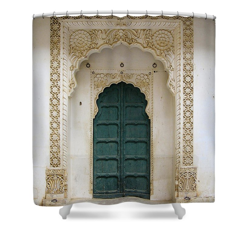 Apartament Shower Curtain featuring the photograph Indian Doorway by Tim Hester