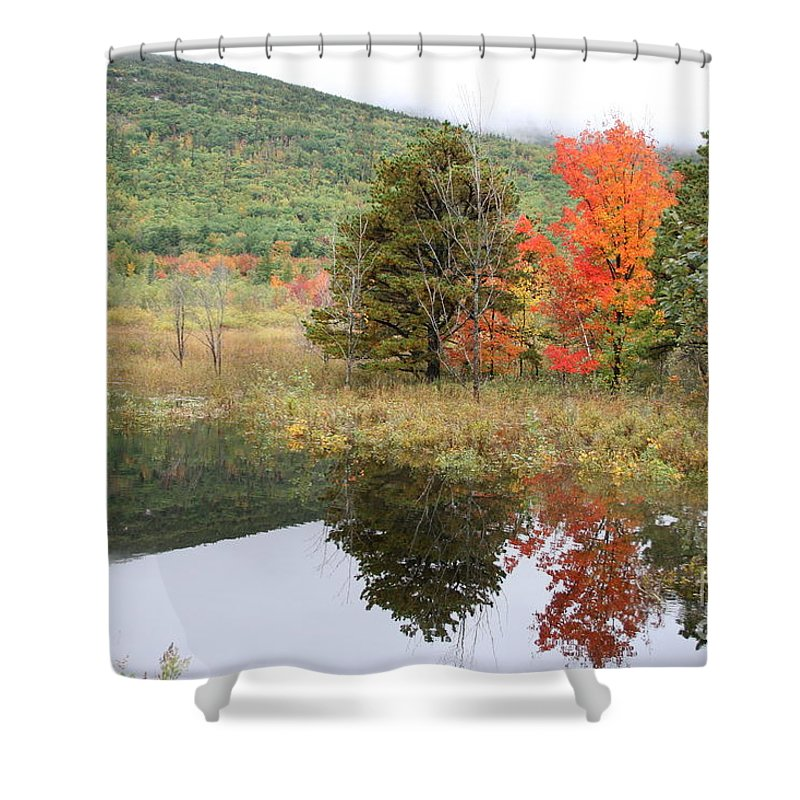Autumn Shower Curtain featuring the photograph Indian Summer Acadia Park by Christiane Schulze Art And Photography