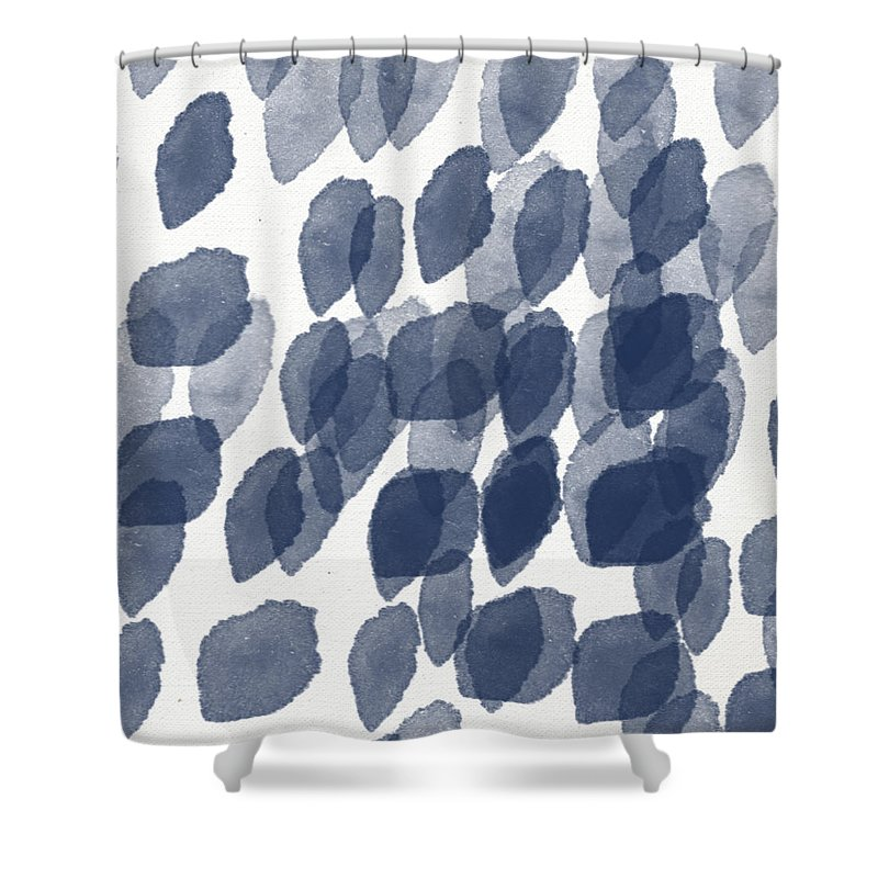 Watercolor Mixed Media Shower Curtains