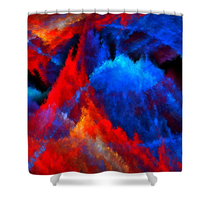 Colors Shower Curtain featuring the digital art Inducers by Lourry Legarde