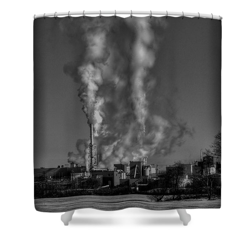 Industry In Black And White Shower Curtain featuring the photograph Industry In Black And White 2 by Thomas Young
