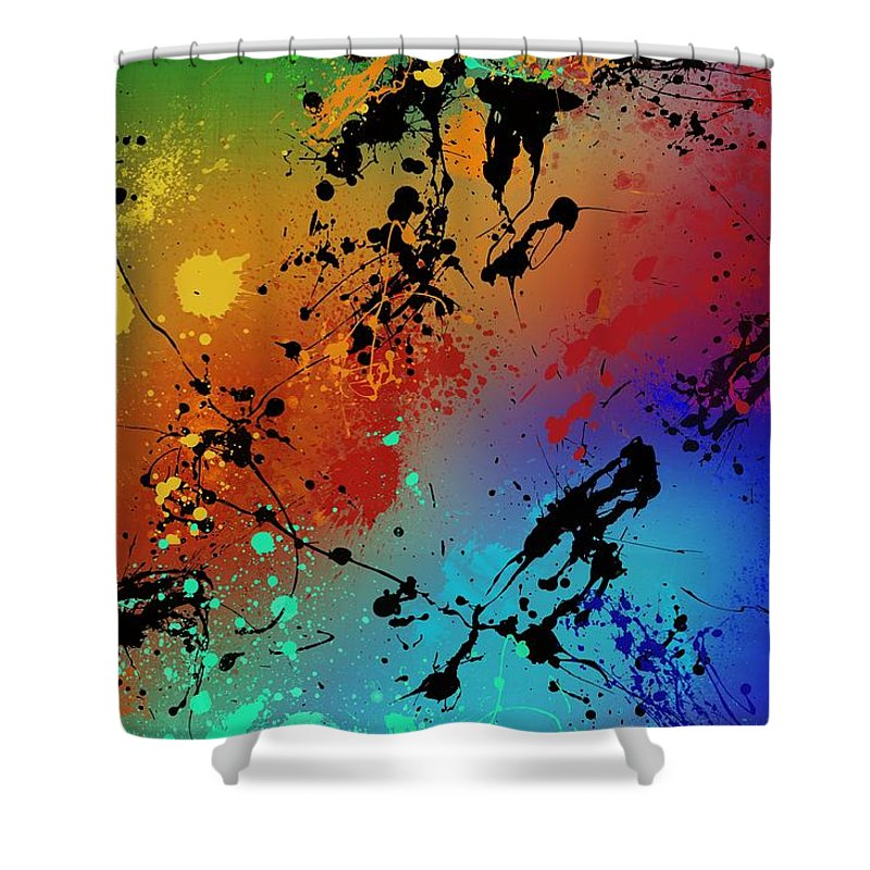 Crazy Paintings Shower Curtains
