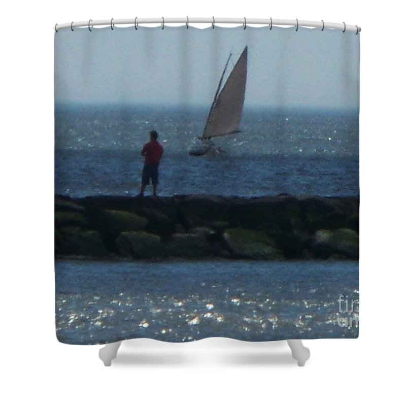 Inlet Shower Curtain featuring the photograph Inlet At West Cape May Nj by Eric Schiabor