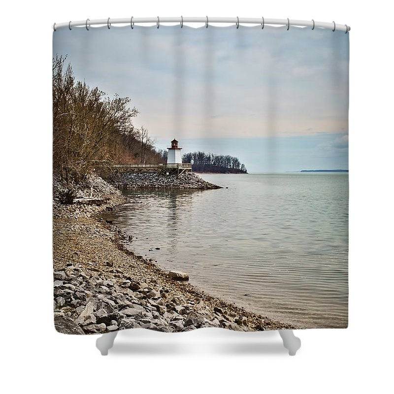 Inlet Lighthouse 3 Shower Curtain featuring the photograph Inlet Lighthouse 3 by Greg Jackson