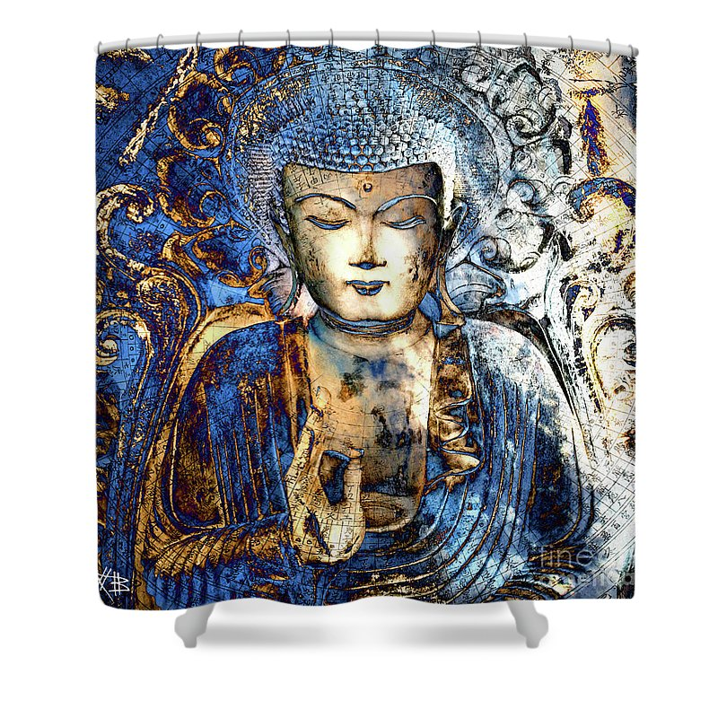 Ancient Mixed Media Shower Curtains