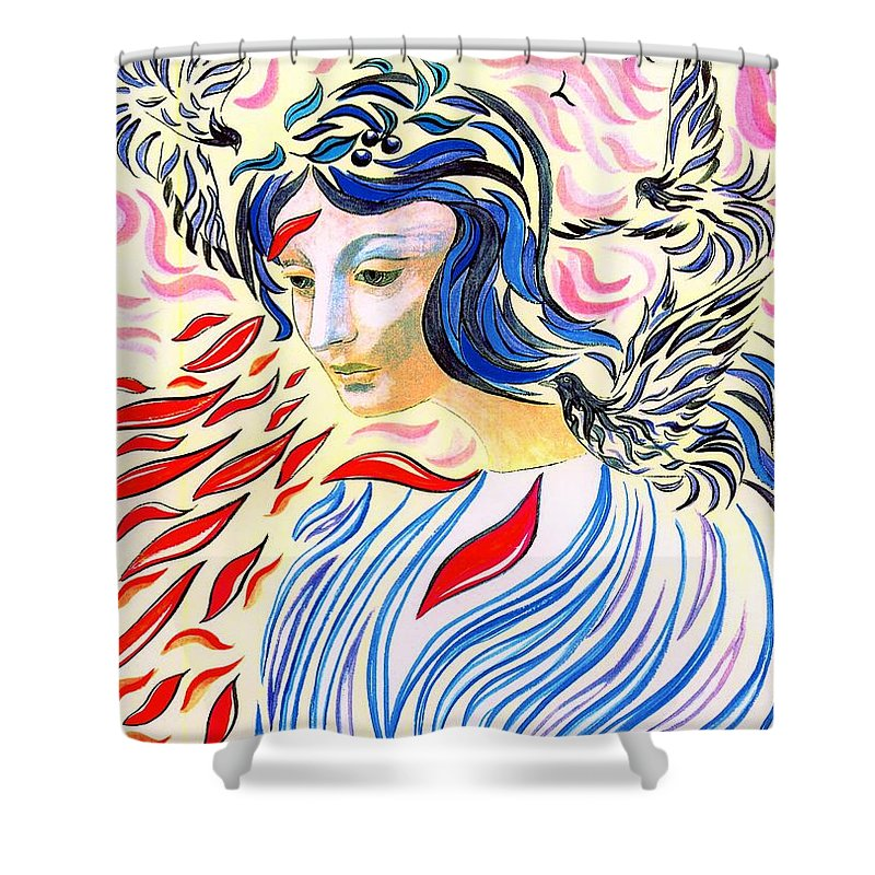 Love Shower Curtain featuring the painting Inner Peace by Jane Small