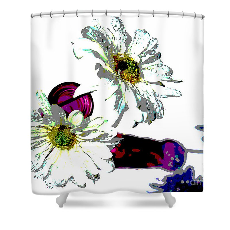 Daisy Shower Curtain featuring the photograph Inner Soul by Krissy Katsimbras