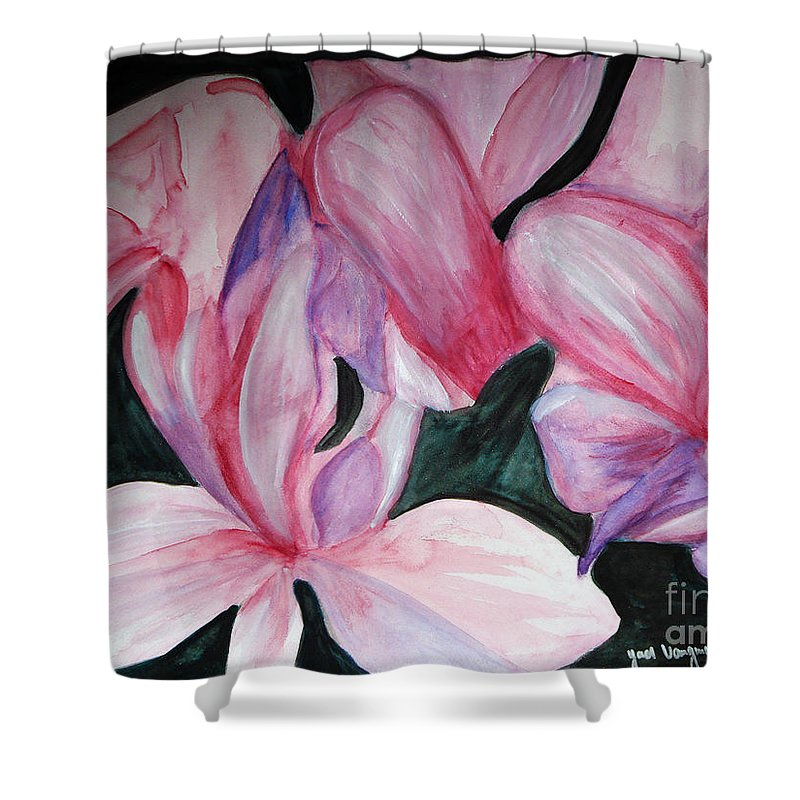 Flower Water Color Abstract Shower Curtain featuring the painting Innocence by Yael VanGruber