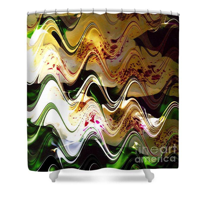 Digital Image Shower Curtain featuring the digital art Inspiration by Yael VanGruber