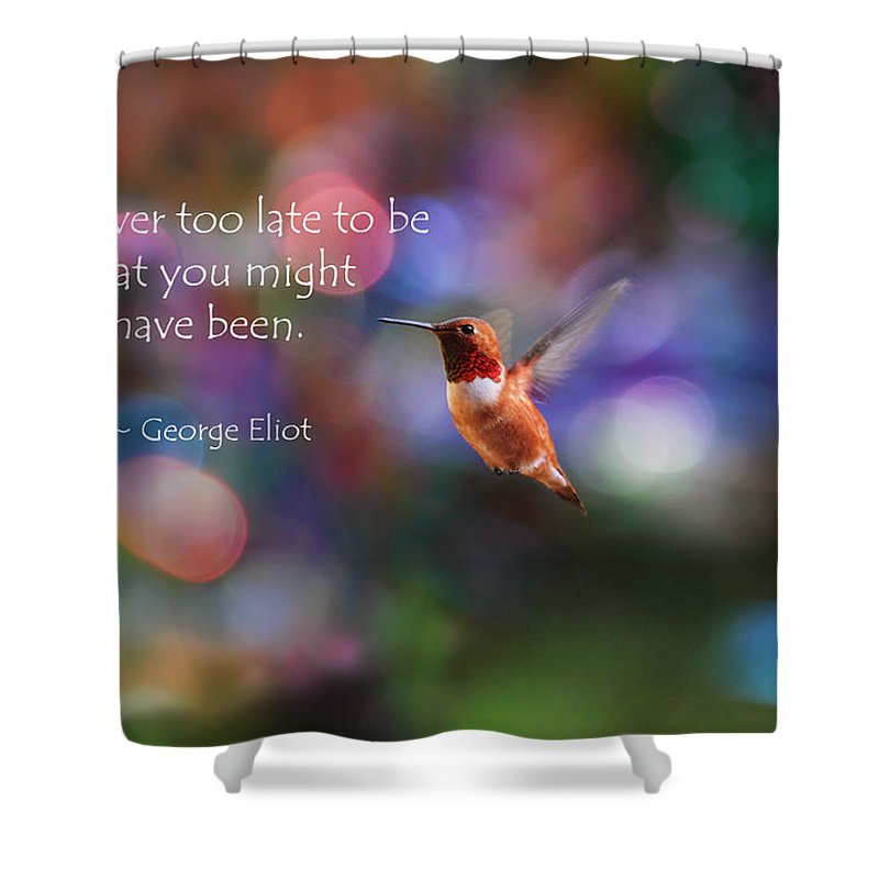 Inspirational Shower Curtain Featuring The Photograph Hummingbird By Peggy Collins