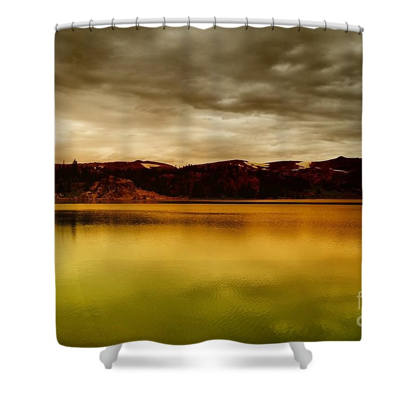 Clouds Shower Curtain featuring the photograph Intenisty In The Clouds by Jeff Swan