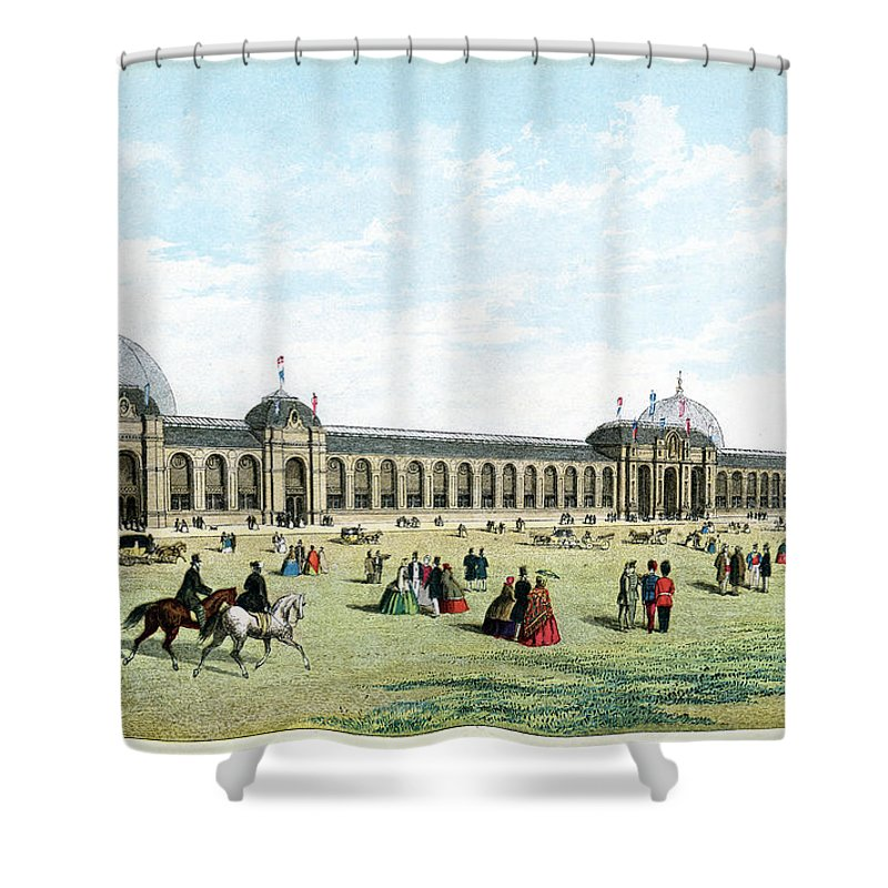 Event Shower Curtain featuring the digital art International Exhibition Of 1862 by Duncan1890