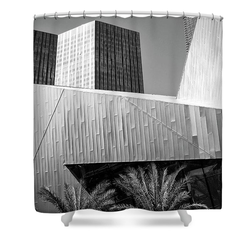Vegas Shower Curtain featuring the photograph Intersection 2 Bw Las Vegas by William Dey