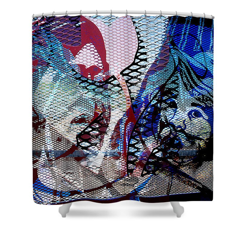 Interstate 10 Shower Curtain featuring the digital art Interstate 10- Exit 261- 6th Ave Overpass- Rectangle Remix by Arthur BRADford Klemmer