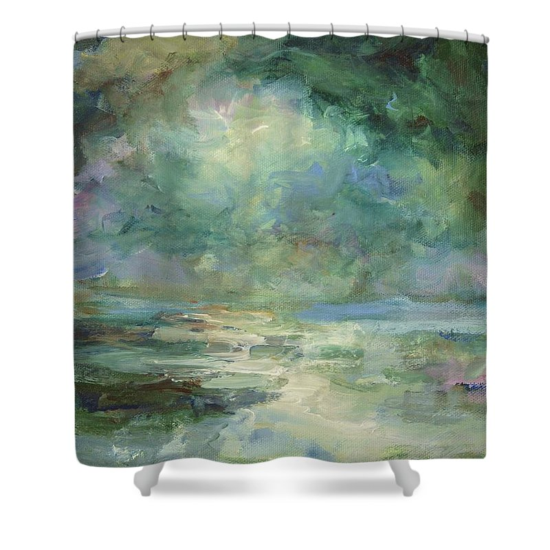Impressionism Shower Curtain featuring the painting Into The Light by Mary Wolf