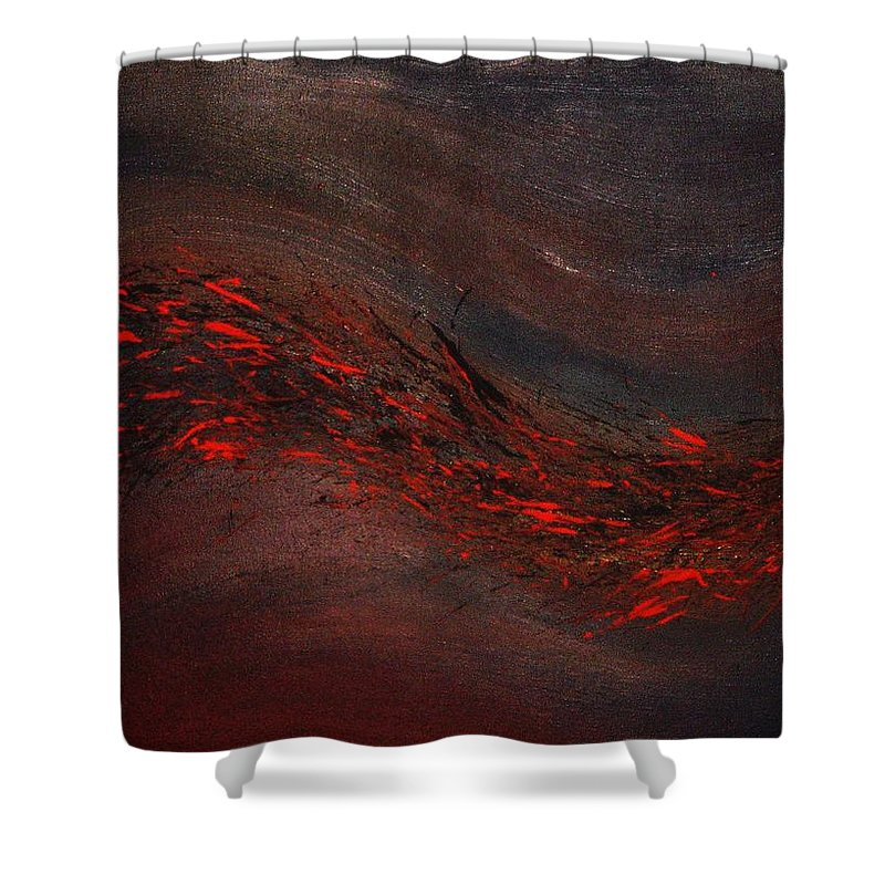 Acrylic Shower Curtain featuring the painting Into The Night by Todd Hoover