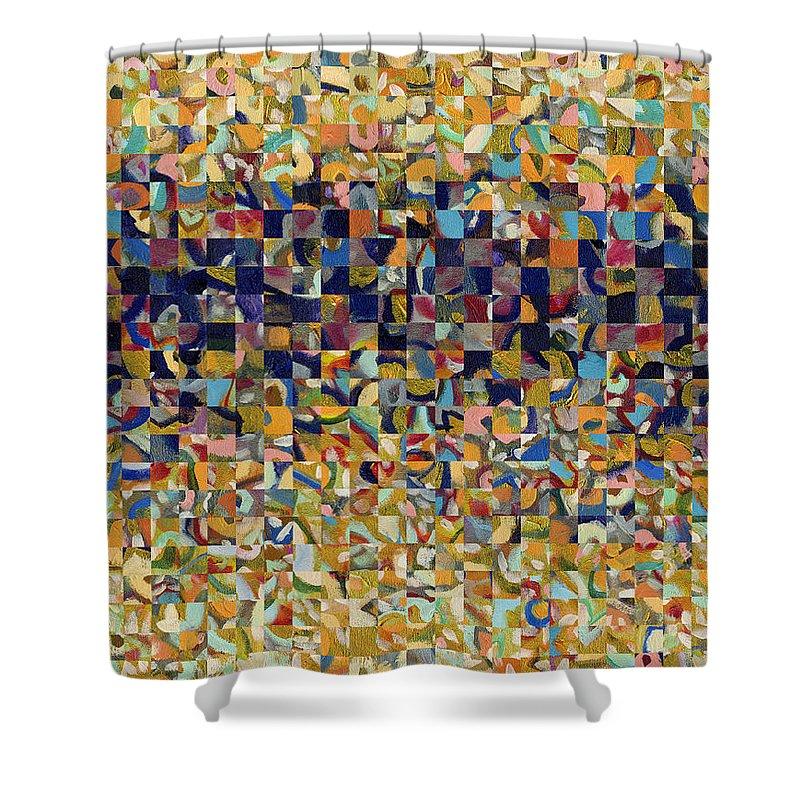 Digital Collage Shower Curtains