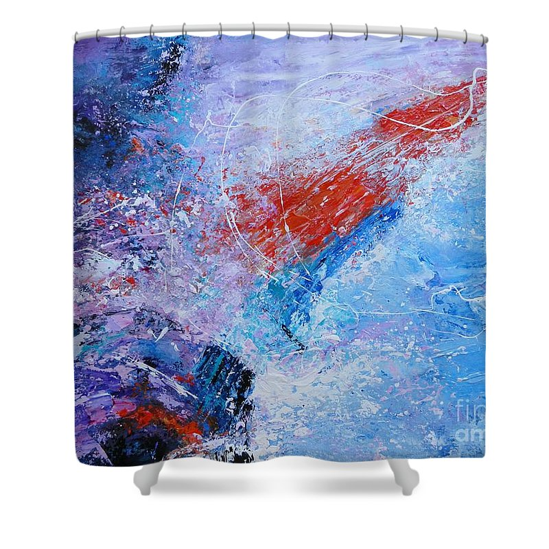 Sail Shower Curtain featuring the painting Into The Storm by Dan Campbell