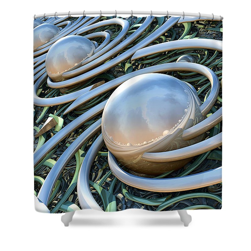 Fine Art Shower Curtain featuring the photograph Invasion by Kevin Trow