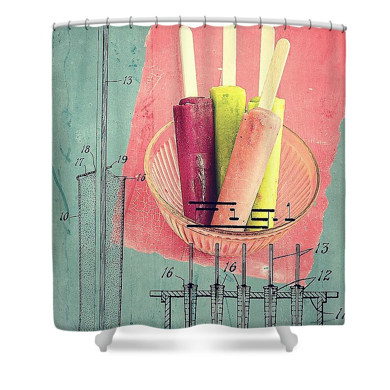 Popsicle Shower Curtain featuring the photograph Invention Of The Ice Pop by Edward Fielding