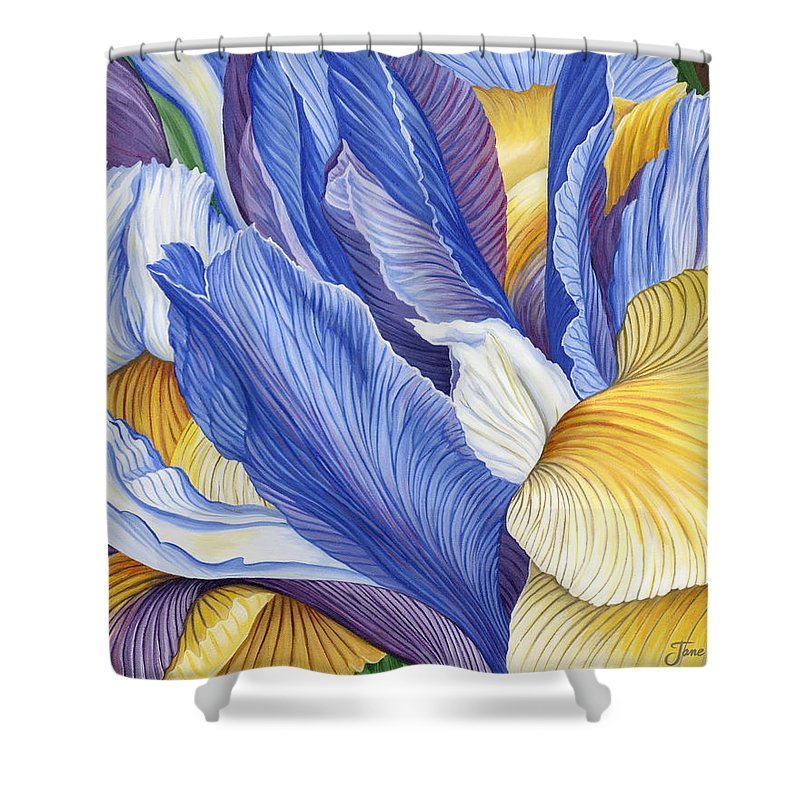 Iris Shower Curtain featuring the painting Iris by Jane Girardot
