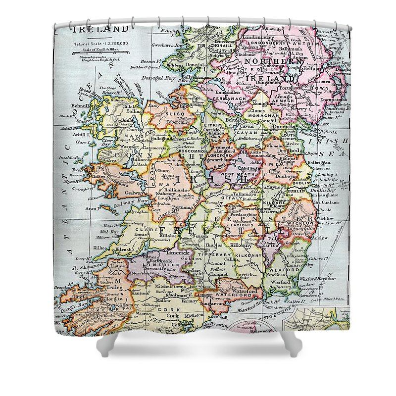 Map Mapping Cartography Grid Scale Territory Island Shower Curtain Featuring