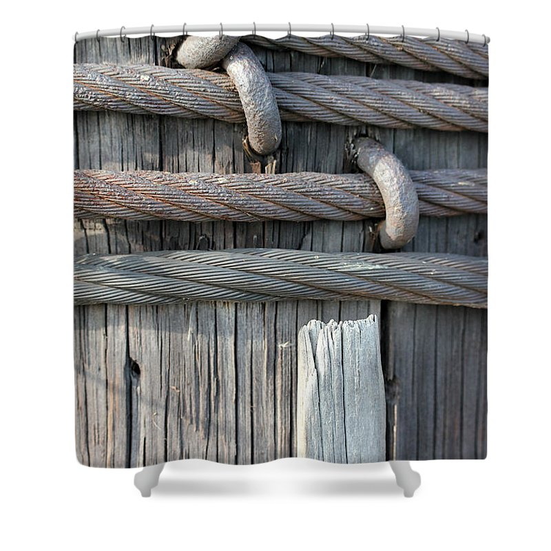 Wood Shower Curtain featuring the photograph Iron And Wood by Mary Bedy