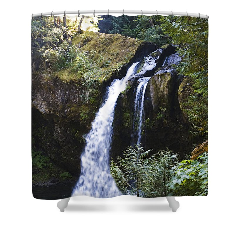 Trees Shower Curtain featuring the photograph Iron Creek Falls by Rich Collins