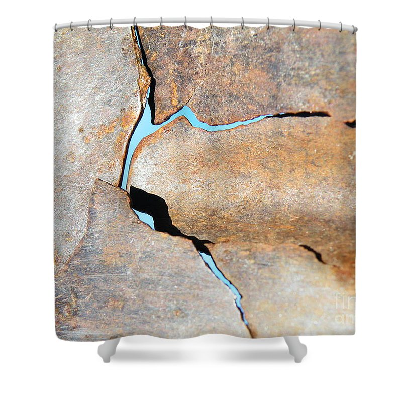 Iron Shower Curtain featuring the photograph Iron Curtain Cracking by Brian Boyle
